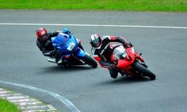 Motorcykelridningperiod på WallraV loppmitt Royaltyfria Foton