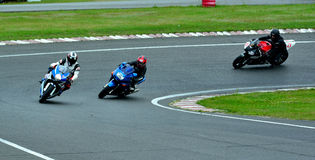 Motorcykelridningperiod på WallraV loppmitt Royaltyfri Bild