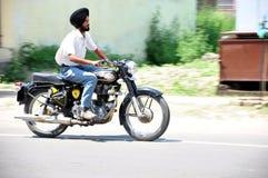 motorcykelritt Fotografering för Bildbyråer