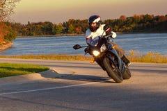 Motorcykelryttare Royaltyfri Fotografi