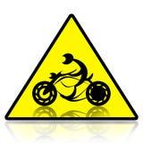Motorcykelryttaretecken Arkivfoton