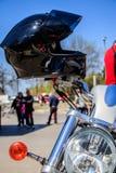 Motorcykelsäkerhetshjälm Bulgarien varna 22 04 2018 Royaltyfri Foto