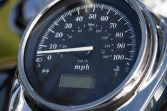motorcykelspeedometer Arkivbild