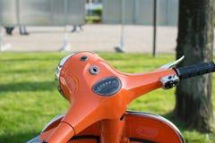 Motorcykelstyrninghjul Royaltyfria Bilder
