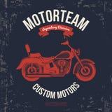 Motorcykeltappningdiagram, vägtur, t-skjorta typografi, tappning vektor Arkivbilder