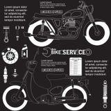 Motorcykelteckning Royaltyfri Fotografi