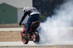 motorcykeltrick Arkivfoton