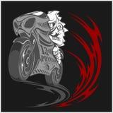 Motorcykeltävlingsföraresport Royaltyfri Fotografi