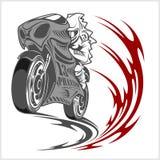 Motorcykeltävlingsföraresport Arkivbilder