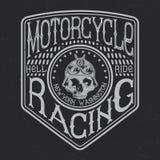 Motorcykeltypografi, t-skjorta diagram Royaltyfri Bild
