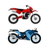 Motorcykeluppsättning Royaltyfri Foto