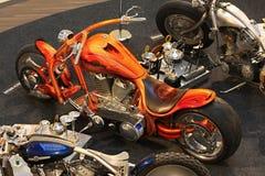 Motorcykelutställning Arkivfoto