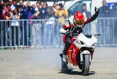 Motorcykelutställning Arkivbilder