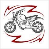 Motorcykelvektorbeståndsdelar Fotografering för Bildbyråer