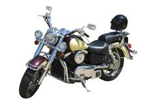 motorcykelwhite Royaltyfria Bilder