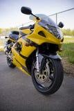 motorcykelyellow royaltyfria bilder