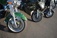 motorcyklar Arkivbild