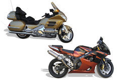motorcyklar Arkivbilder