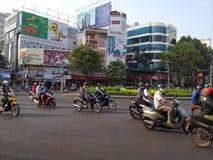 motorcyklar i Saigon arkivbilder