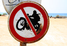 motorcyklar inget tecken arkivfoto