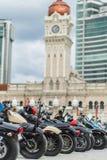 Motorcyklar på cyklistferie arkivbilder