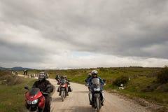 Motorcyklar på frihet 54 i Ushuaia, Argentina Arkivbilder