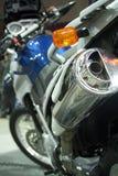 Motorcyklar på utställningen för att finna nya köpare Royaltyfri Fotografi