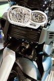 Motorcyklar på utställningen för att finna nya köpare Royaltyfria Foton