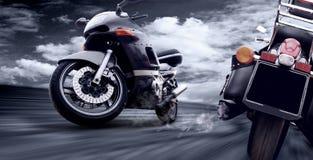 motorcyklar två Fotografering för Bildbyråer