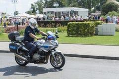 Motorcykle polaco de la policía Foto de archivo libre de regalías
