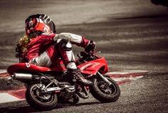 Motorcylce racer Stock Image