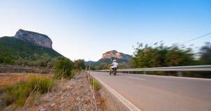 Motorcylcing a velocità Fotografie Stock
