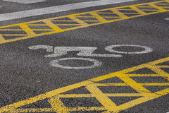 Motorcyle road marking Royalty Free Stock Photography