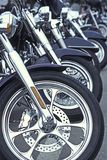 Motorcyles in a row Stock Image