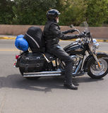 Motorcylist in Santa Fe New Mexiko Stockbilder