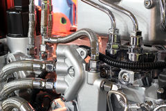Motordetail des schweren LKW Stockfoto