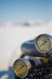 Motordetail van een uitstekende auto Royalty-vrije Stock Foto