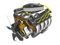 motore 3D su bianco Fotografia Stock Libera da Diritti