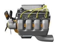 motore 3d su bianco Fotografie Stock Libere da Diritti
