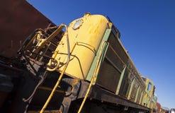 Motore abbandonato del treno Fotografie Stock Libere da Diritti