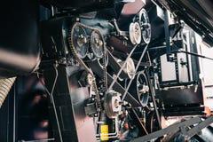 Motore alta tecnologia potente della mietitrice di industriale o del trattore, progettazione moderna Fotografie Stock Libere da Diritti