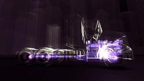 Motore astratto del camion 3D archivi video