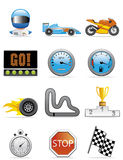 Motore che corre le icone Fotografie Stock