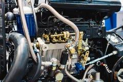 Motore a combustione interna automobilistico fotografia stock libera da diritti