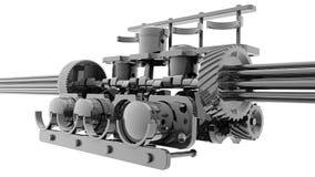 Motore a combustione interna del V8 3D Fotografia Stock Libera da Diritti