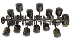 Motore a combustione interna V12 3D Fotografie Stock