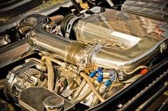 Motore cromato Fotografia Stock
