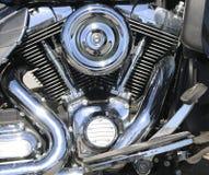 Motore cromato del motociclo fotografia stock libera da diritti