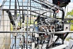 Motore del airboat del parco dell'alligatore dei terreni paludosi degli S.U.A. dello stato di Florida Immagine Stock