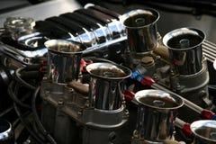 Motore del bicromato di potassio sull'automobile americana classica Fotografia Stock